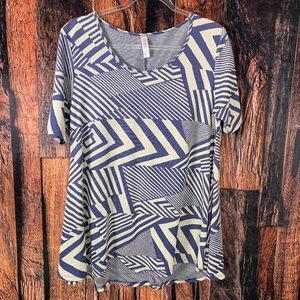 Lularoe Geometric Stripes Perfect T